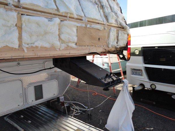 RV repair travel trailer